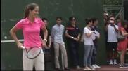 ВИДЕО: Иванович, Халеп и Возняцки изнесоха урок на бъдещи тенисисти