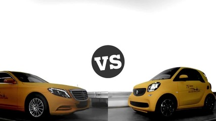 Smart Fortwo vs S-class - краш тест