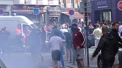 France: Riot police charge fans in Lille