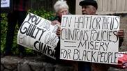 USA: Activists protest Bill Clinton ahead of speech at UC Berkeley