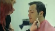 Сарп Апак - зад кадър снима рекламата за Istecell