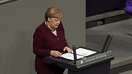 Germany: Merkel defends lockdown extension in Bundestag address