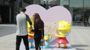 China: Fashion show marks opening of world's first Simpsons clothes store