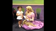 Brynn and the Princesses (cinderella, Aurora, Rapunzel, Belle) at Disney World