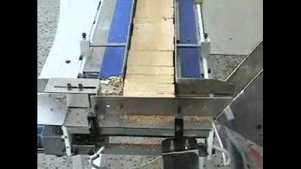 Машина с дискретно действие за групови опаковки (бисквити, вафли) - ф. Хранпак