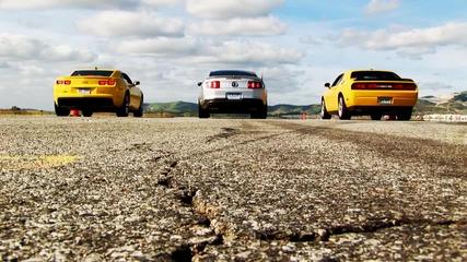 2011 Mustang Gt vs 2010 Camaro Ss vs 2010 Dodge Challenger Srt8 Full Hd