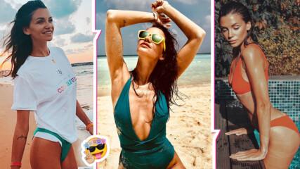 Слънце, плаж и море: Диляна Попова грее и пръска сексапил