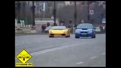 Subaru Impreza Wrx Sti vs Lamborghini Gallardo