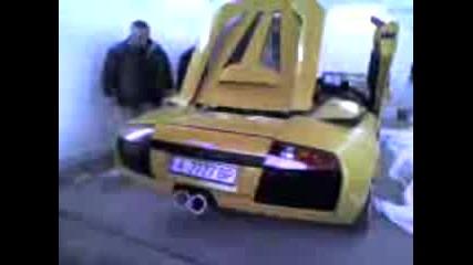 Lamborghini burnaut