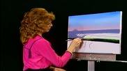 S05 Радостта на живописта с Bob Ross E09 - анатомия на вълнообразната линия ღобучение в рисуване, жи