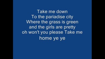 guns n roses paridise city with lyrics