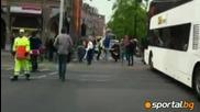 I Ajax izpusna trofeia ot avtobusa si