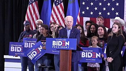 USA: 'Comeback kid' Biden fingers Putin as Sanders projected to win Nevada