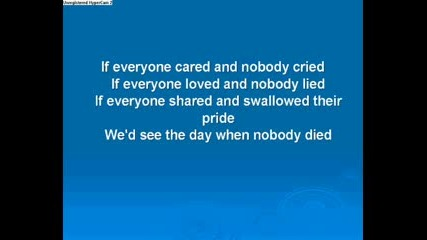 Song and Lyrics to If Everyone cared