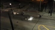 Улична война с фойерверки