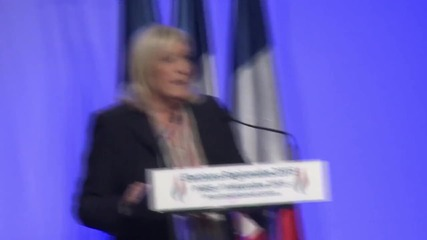France: Marine Le Pen addresses FN members ahead of runoff elections
