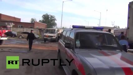 Ukraine: Firefighters die battling huge inferno at oil depot near Kiev