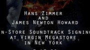 Hans Zimmer & James Newton Howard - The Dark Knight Soundtrack N.Y. In-Store (Оfficial video)