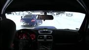Subaru Impreza Wrx Sti snow driving onboard 2