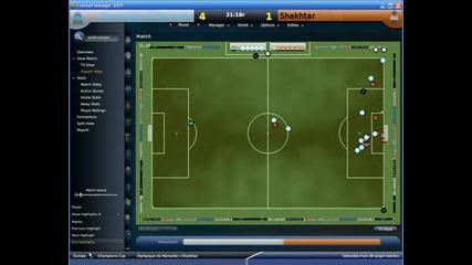 Гол от корнер на Стивън Дефур,  Football Manager 2009