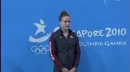 Младежки олимпийски игри 2010 - Плуване 100 метра бруст жени Финал