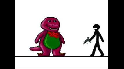 Elmo Stick Kills Barney