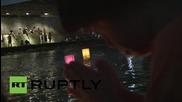Япония: Хиляди блещукащи фенери отбелязват 70 годишнината от бомбардировката в Хирошима