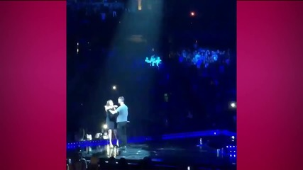 "Adam Levine ""Attacked"" On Stage by Crazed Fan"