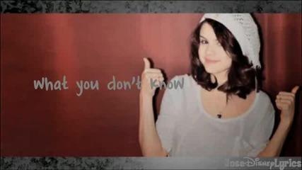 Selena Gomez & The Scene - Sick Of You (lyrics Video) Hd