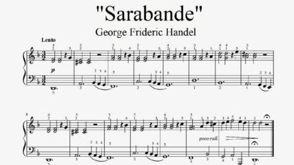 """George Frideric Handel - Sarabande"" - Piano sheet music (by Tatiana Hyusein)"