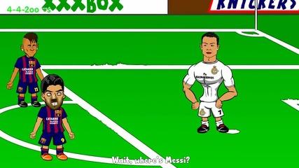 Къде е Меси? - Забавна футболна анимация.
