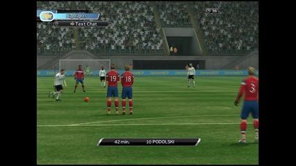 Pes 2012 Ml Online Goal : Podolski Free Kick