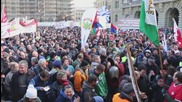 Switzerland: Farmers ring cow bells against austerity at protest in Bern