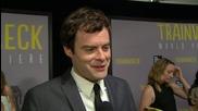 Bill Hader Chats At 'Trainwreck' World Premiere