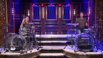Will Ferrell and Chad Smith Drum