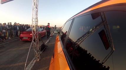 Porsche 997 Turbo Es1000r vs Audi Rs6 Madness Motorsport Pb0900 Drag Race