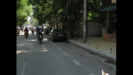 Почетна мото обиколка на град Добрич 2011 год.