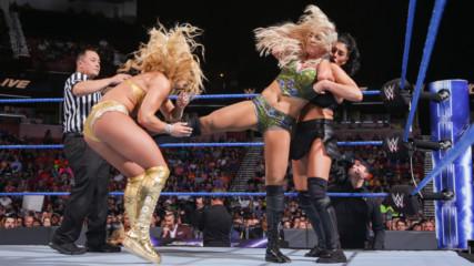 Charlotte Flair & Becky Lynch vs. Mandy Rose & Sonya Deville: SmackDown LIVE, 14 August, 2018