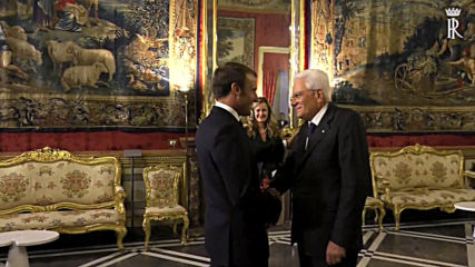 Italy: French President Macron hosted by counterpart Sergio Mattarella