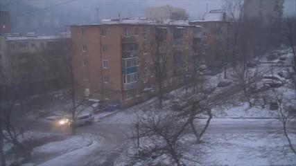 Замръзналото кръстовище - Завърти се и се плъзни