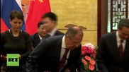 China: Major energy and trade deals signed with Russia