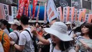 Hong Kong: Tens of thousands march in pro-democracy protest