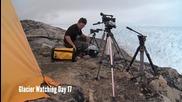 Най-голямото откъсване на ледник заснето някога