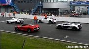 Koenigsegg Agera vs. Ferrari Laferrari vs. Porsche 918 vs. Mclaren P1 on Track