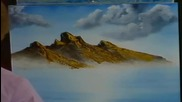 S02 Радостта на живописта с Bob Ross E07 - кафява планина ღобучение в рисуване, живописღ