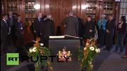 Germany: Modi signs 'Golden Book' at Hanover City Hall