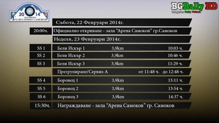 Полезна информация за рали спринт Самоков 22-23 Февруари