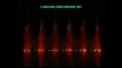 Belagio - waltzing waters show