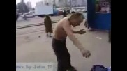 Пиян руснак се прави на Нинджа! (много смях)
