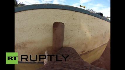 Австралия: GoPro камера показва как слон играе с ръгби топка